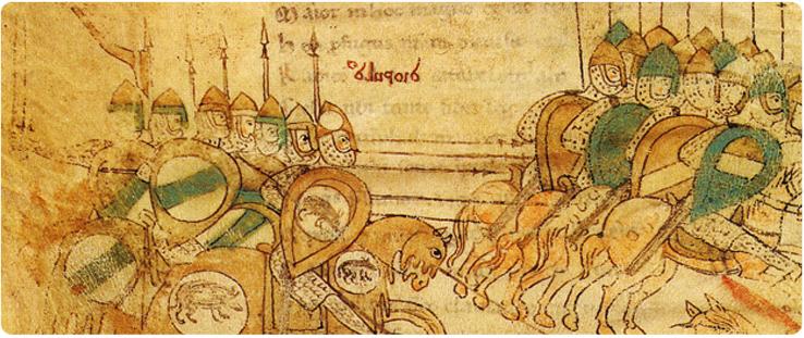 Scena di battaglia medievale (fonte CESN)